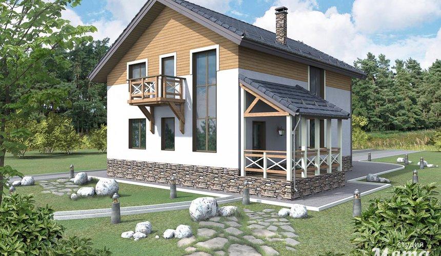 Дизайн проект фасада коттеджа 205 м2 в г. Нижневартовск 3
