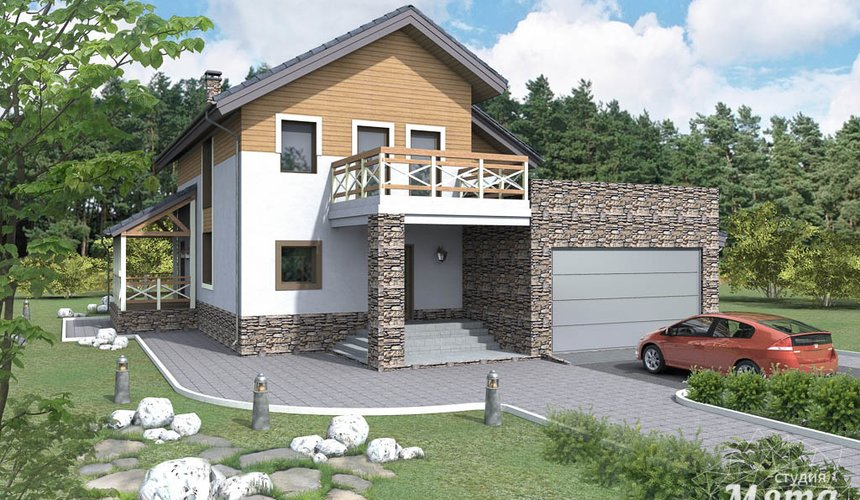 Дизайн проект фасада коттеджа 205 м2 в г. Нижневартовск 4