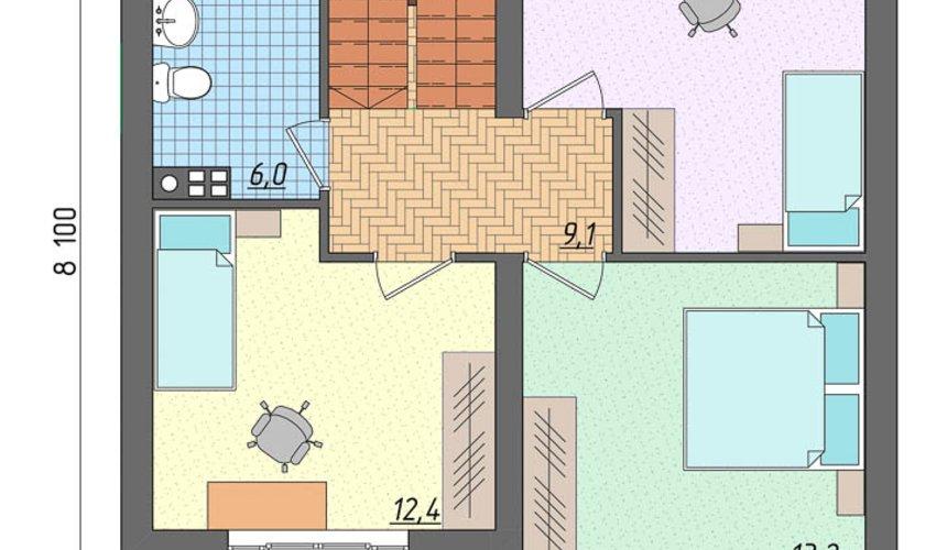 Индивидуальный проект частного дома 100 м2 в Щелкун 5