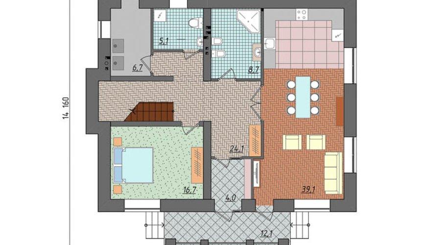 Индивидуальный проект двухэтажного дома 210 м2 в Сочи 4