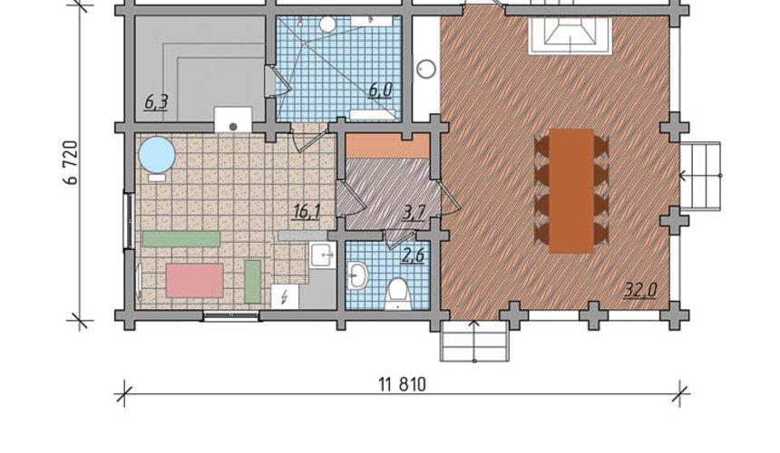 Индивидуальный проект дома 65 м2 в КП Дубрава 4
