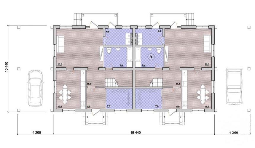 Индивидуальный проект коттеджа 335 м2 в КП Лукоморье 3