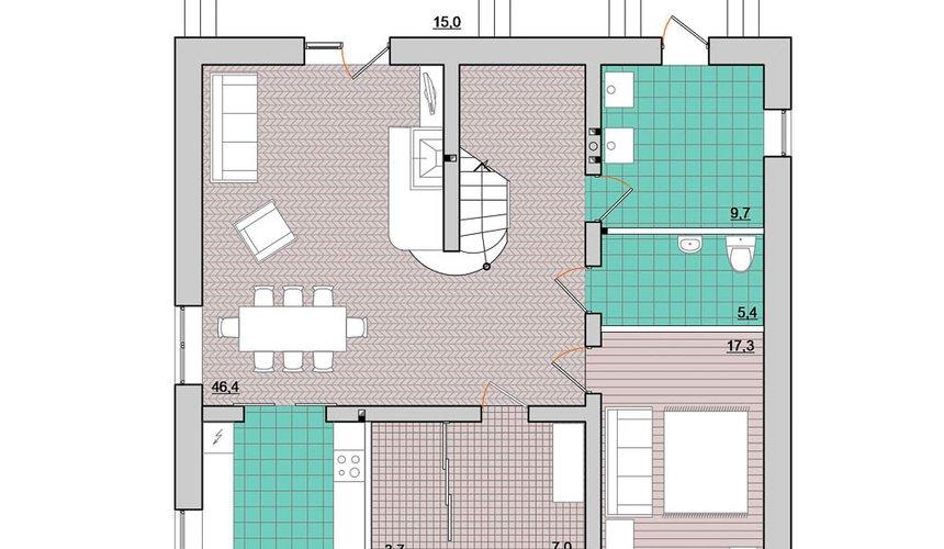 Индивидуальный проект дома 200 м2 в Краснодаре 4