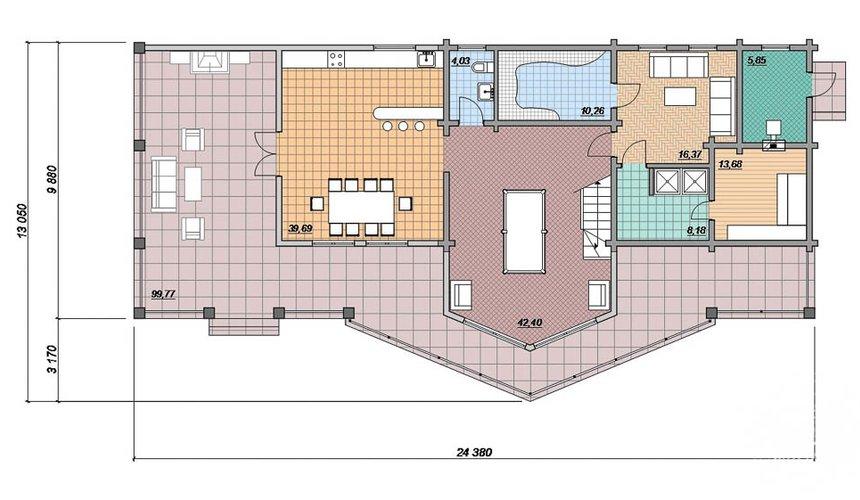 Индивидуальный проект дома 165 м2 в г. Нефтеюганск 4