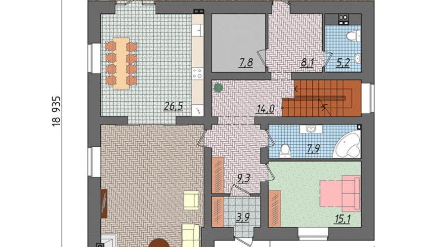Индивидуальный проект коттеджа 495 м2 в КП Карасьозерский 5