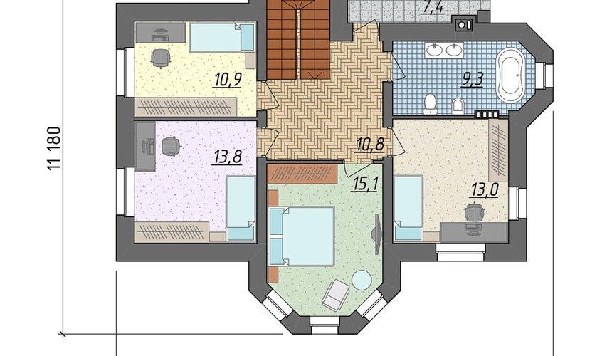 Индивидуальный проект дома 160 м2 в КП Александрия 5