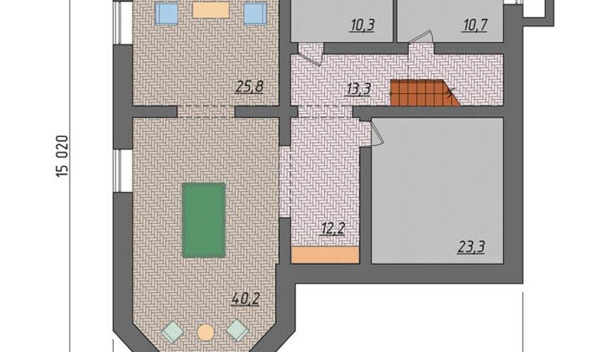 Индивидуальный проект коттеджа 495 м2 в КП Карасьозерский 7