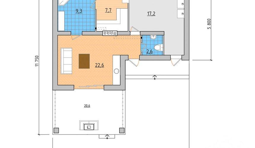 Индивидуальный проект дома 80 м2 в Ханты-Мансийске 3