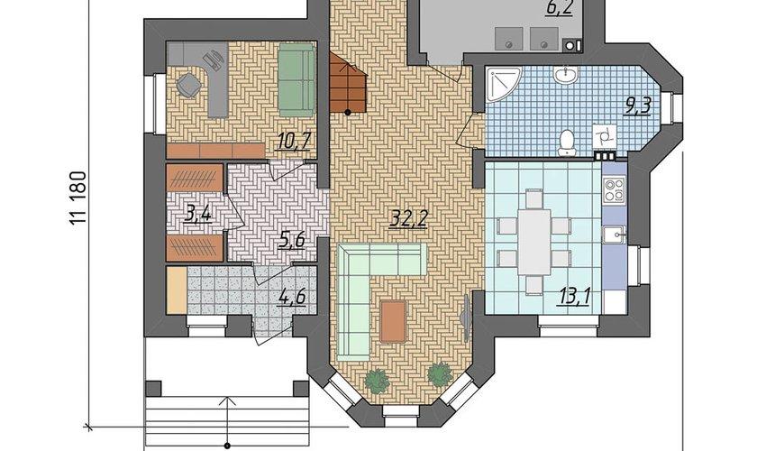 Индивидуальный проект дома 160 м2 в КП Александрия 4