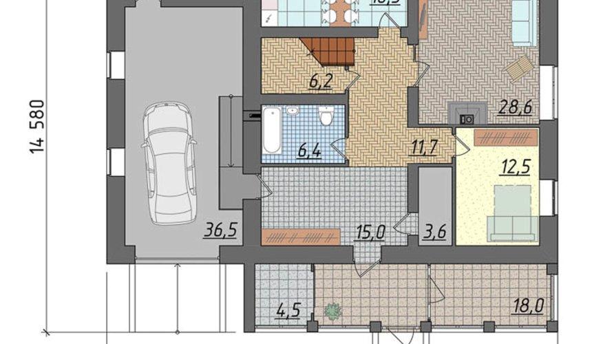 Индивидуальный проект дома 270 м2 в КП Заповедник 5