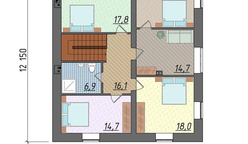 Индивидуальный проект коттеджа 290 м2 в г. Сургут 5