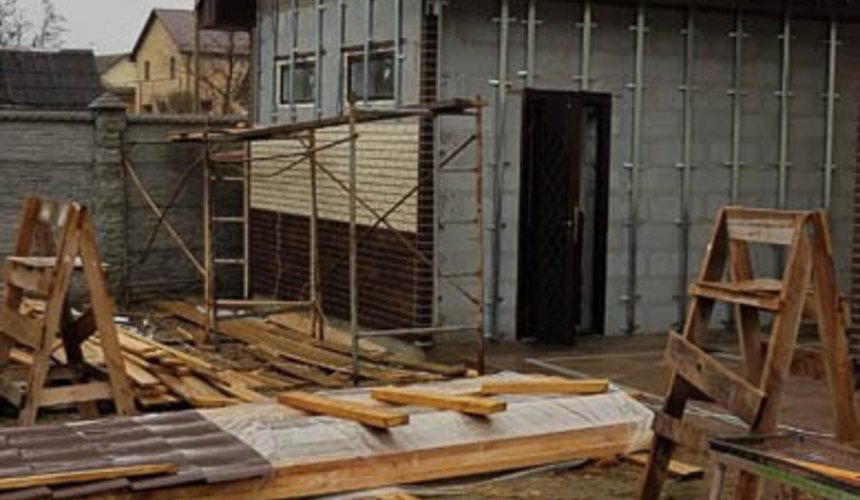 Строительство гаража и беседки г. Пермь 38