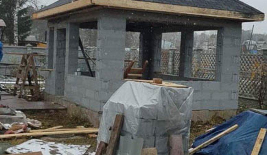 Строительство гаража и беседки г. Пермь 17