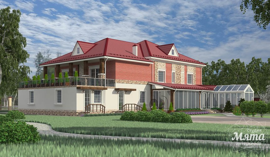 Индивидуальный проект дома 532 м2 и бани 152 м2 г. Арамиль 2