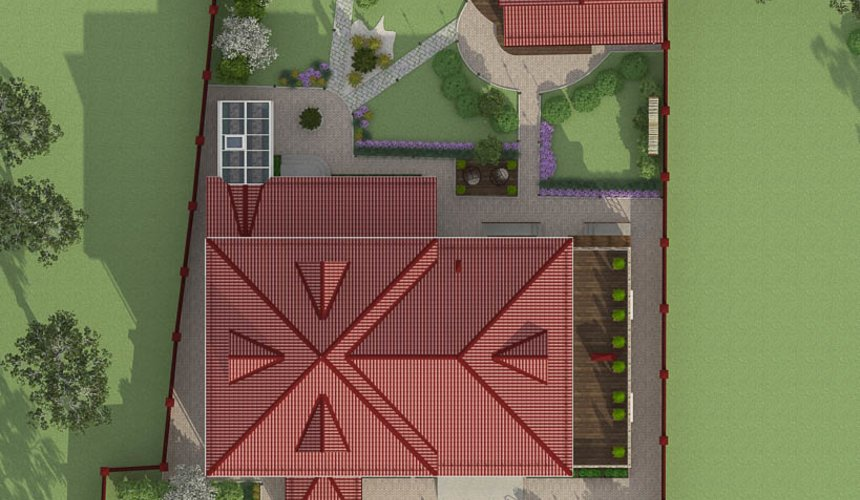 Индивидуальный проект дома 532 м2 и бани 152 м2 г. Арамиль 5